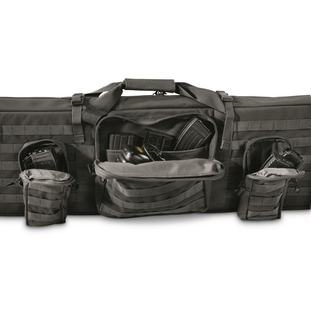 case 42 The engage tactical rifle case features rugged endura fabric construction with an easy clean polyester lining this durable and dependable case.