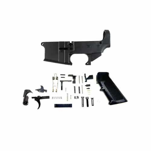 Forged 80% Lower with Lower Parts Kit - Anodized - Fire/Safe Marked AR-15  Lower Parts Kit Co  - $128 99