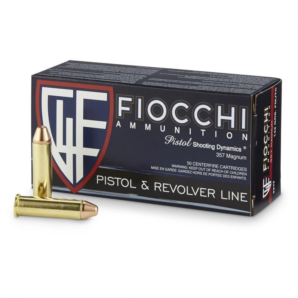 Fiocchi,  357 Mag, FMJTC, 142 Grain, 1,000 Rounds - $322 99