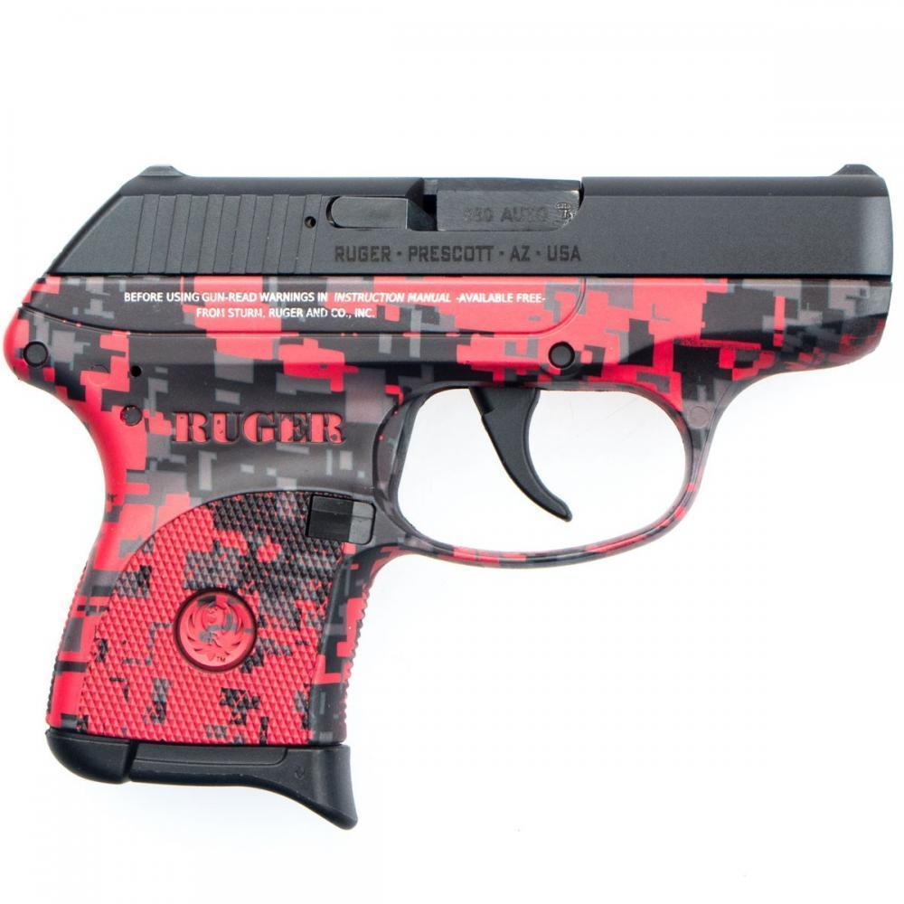 "Ruger LCP 380 ACP 2.75"" 6 Rd Red Digital Camo"