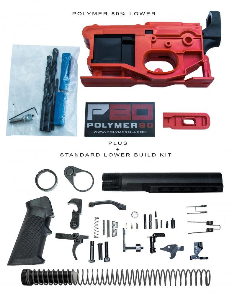 Polymer80 G150 Lower + Complete Rifle Parts Kit - $129
