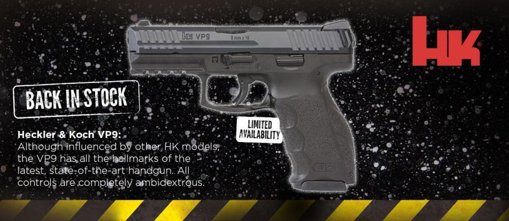 Hk Vp9 9mm Pistol With Night Sights Three 15 Round Magazines 700009le A5 499 99 Gun Deals