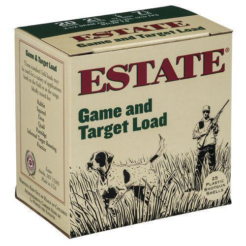 Estate Cartridge Game and Target Load 20 Gauge Shotshells 25