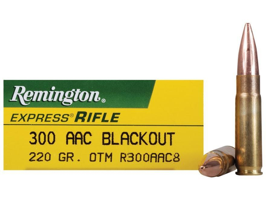 Remington Ammunition 300 AAC Blackout (7 62x35mm) 220 Grain Subsonic  Open-Tip Match (OTM) Box of 20 - $23 15