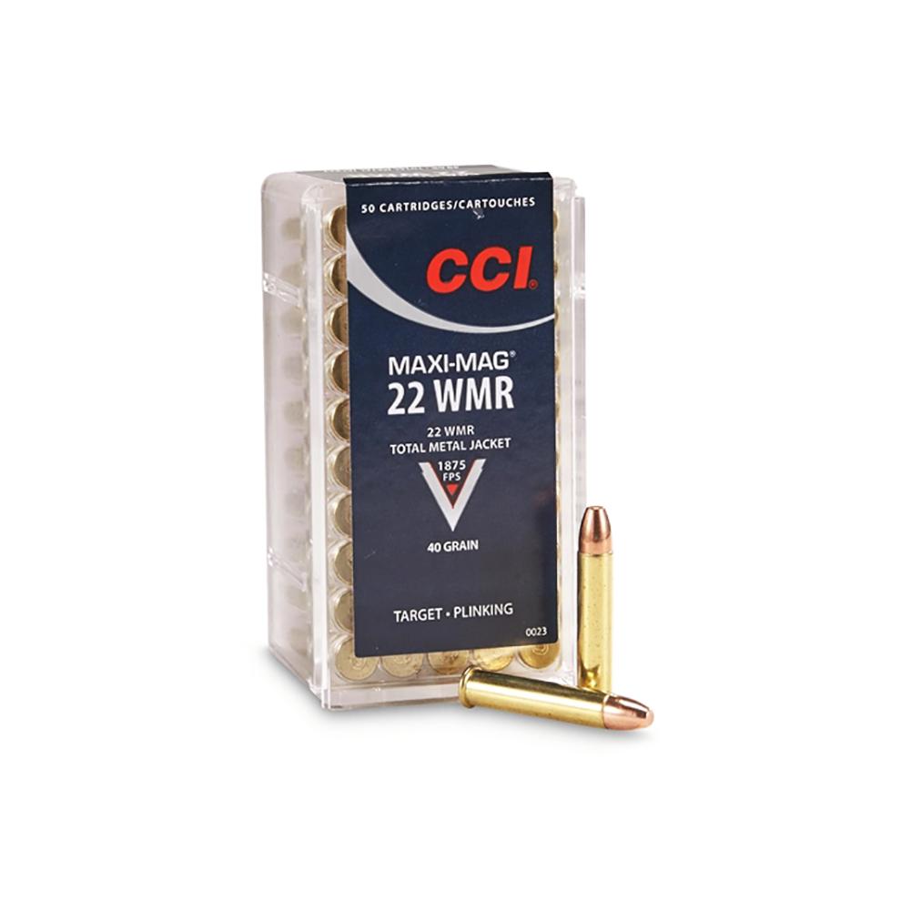 CCI Speer Maxi-Mag 22 WMR 40 Grain Total Metal Jacket Ammo, 50 Round Box -  $8 97