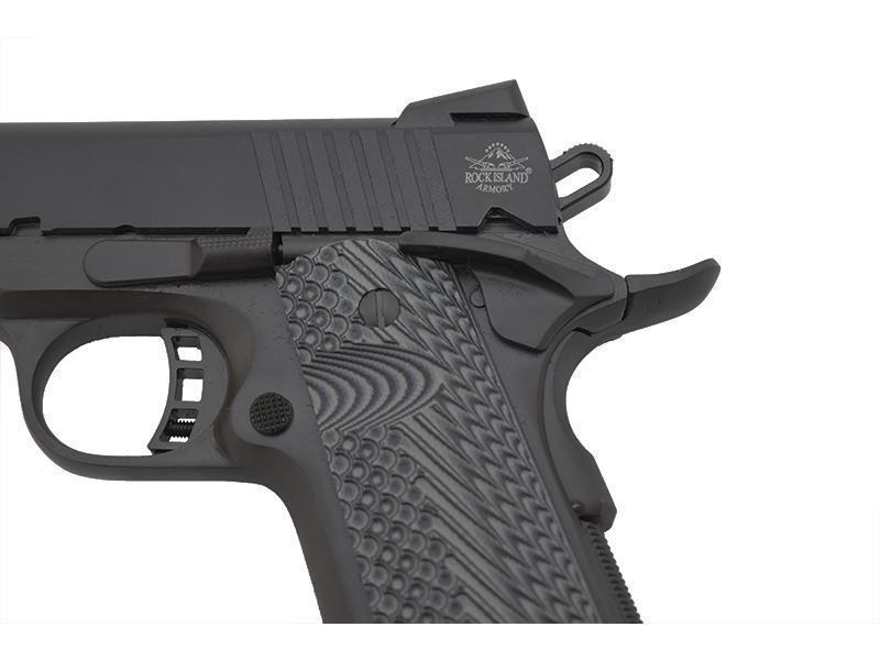 Armscor Rock Island 1911-A1 Black  45ACP 4 3-inch 8Rd G10 VZ Grips - $399  ($7 99 S/H on firearms)