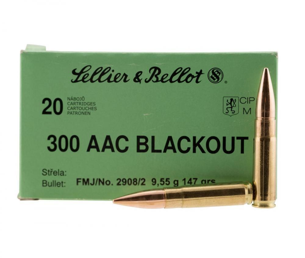 Sellier & Bellot 300 AAC Blkout 147gr FMJ 20rds SB300BLKB - $9 99
