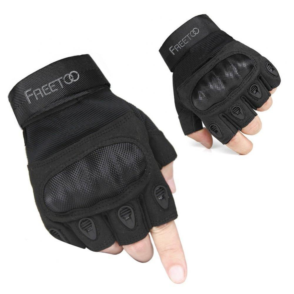 Fingerless gloves amazon - Freetoo Men S Hard Knuckle Fingerless Military Gear Tactical Gloves From 11 98 Shipped