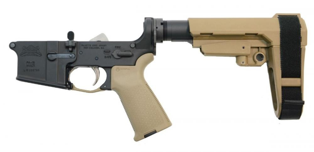 PSA AR15 Complete MOE EPT with adjustable brace Lower, FDE - $219 99