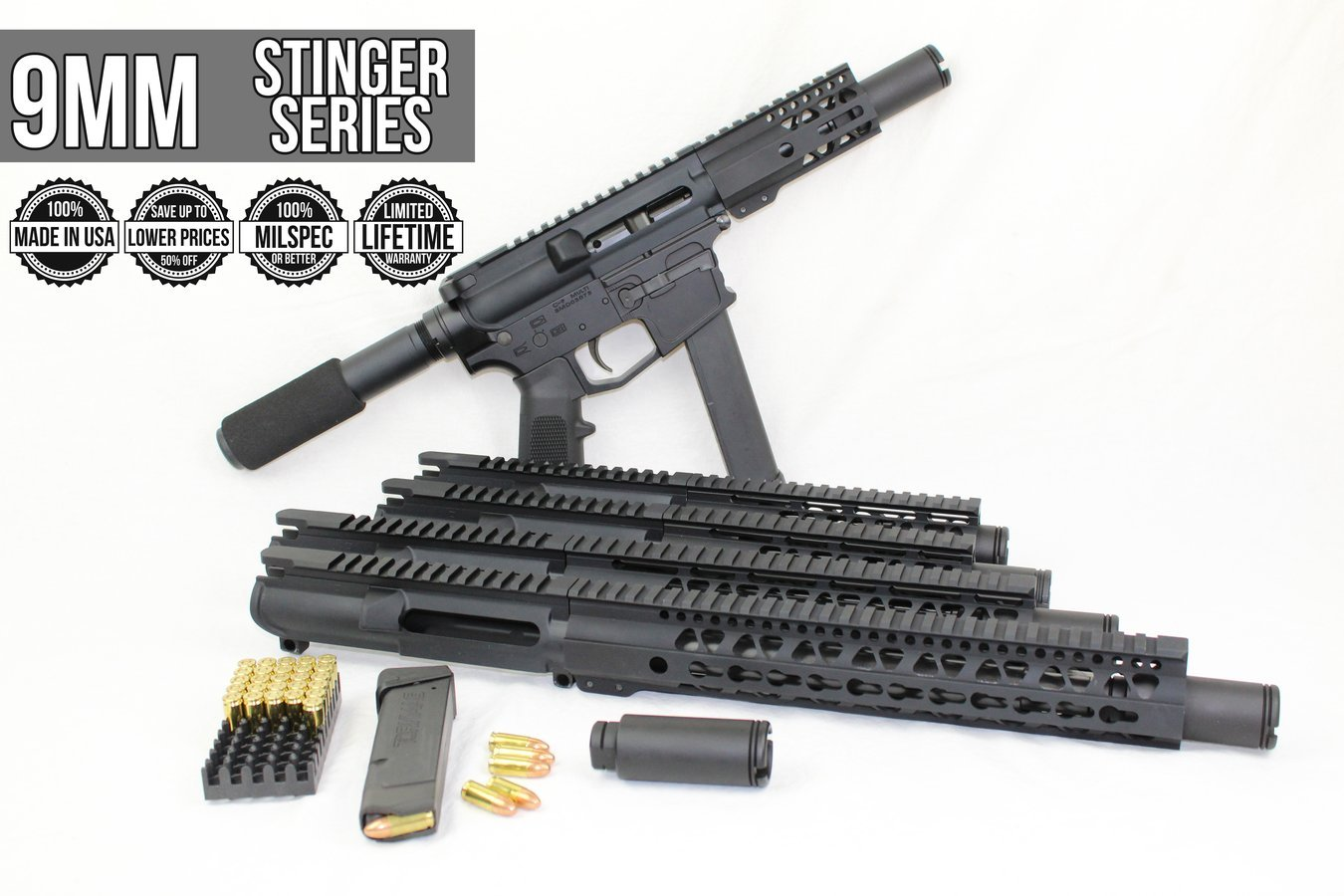 Upper 9mm Made in USA AR9 Uppers Keymod/MLOK Prices Starting at $159