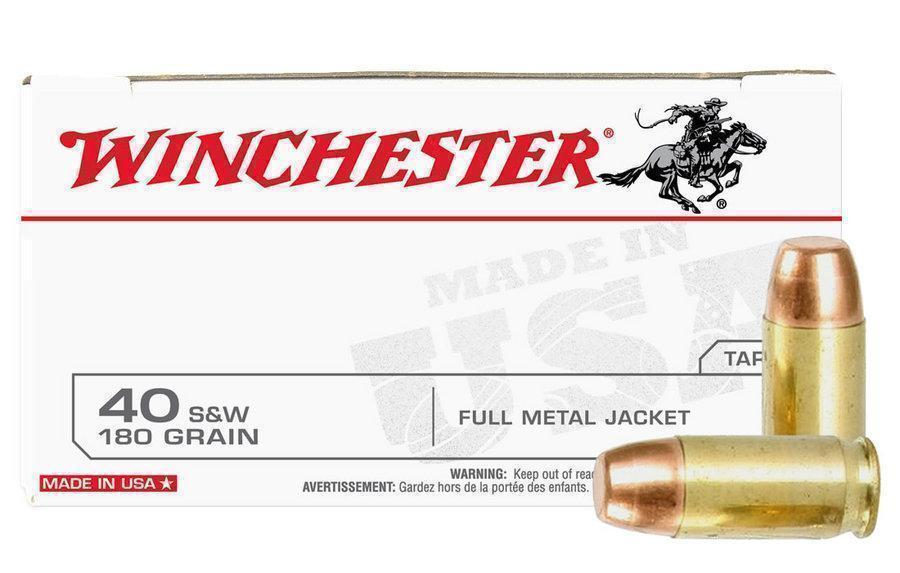 Unopened Police Trade-in Winchester 40 S&W 180 gr FMJ 50 Rnds - $14 99  (Free S/H on Firearms)