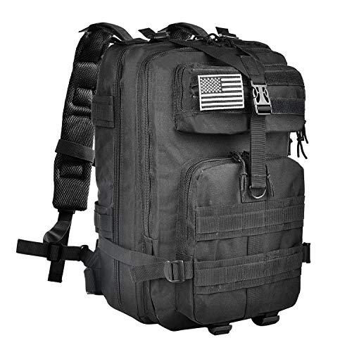 CVLIFE Outdoor Tactical Backpack Military Rucksacks for Camping Hiking  Medium Packs 40L(Black) -  17.21 (Free S H over  25) b5f7895e1697c