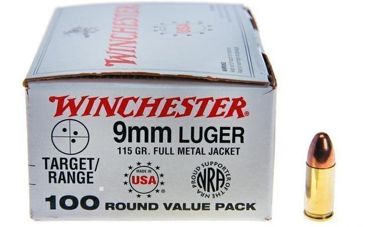 Winchester USA Value Pack 9mm 115Gr FMJ 100 Rnds - $22 49 (Free 2-Day  Shipping over $50)