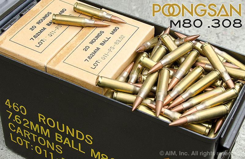 460 rounds South Korean 7 62x51 M80 in m2a1 ammo can - $179 99 + shipping