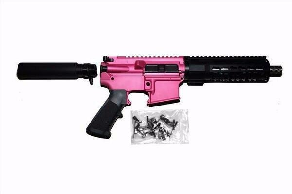 AR-15 Pistol Kit Pink with 80% Lower Receiver- visit website for additional  COLORS - $475 95