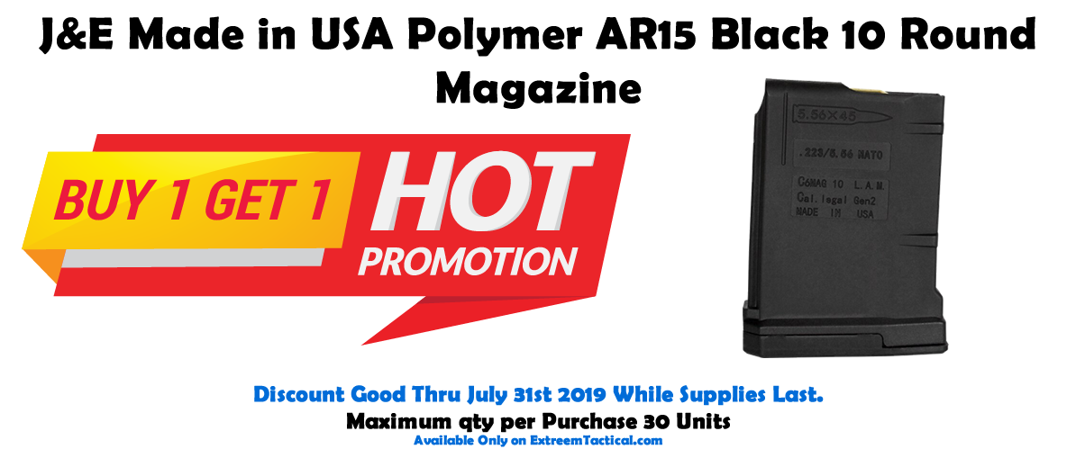 BUY 1 GET 1 FREE Made in USA AR15 Polymer 10 Round Magazine - $10 95 (Free  S/H)