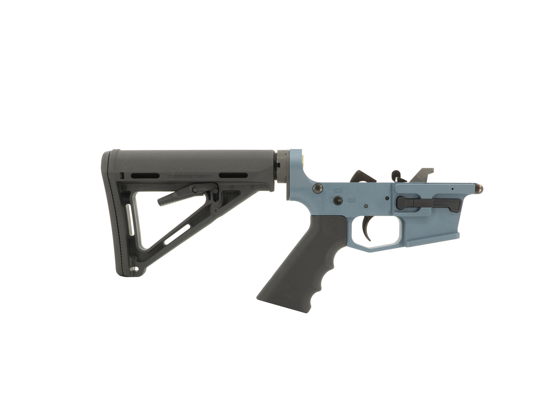 Grid Defense Complete 9mm Rifle Lower Receiver - Blue Titanium - $375