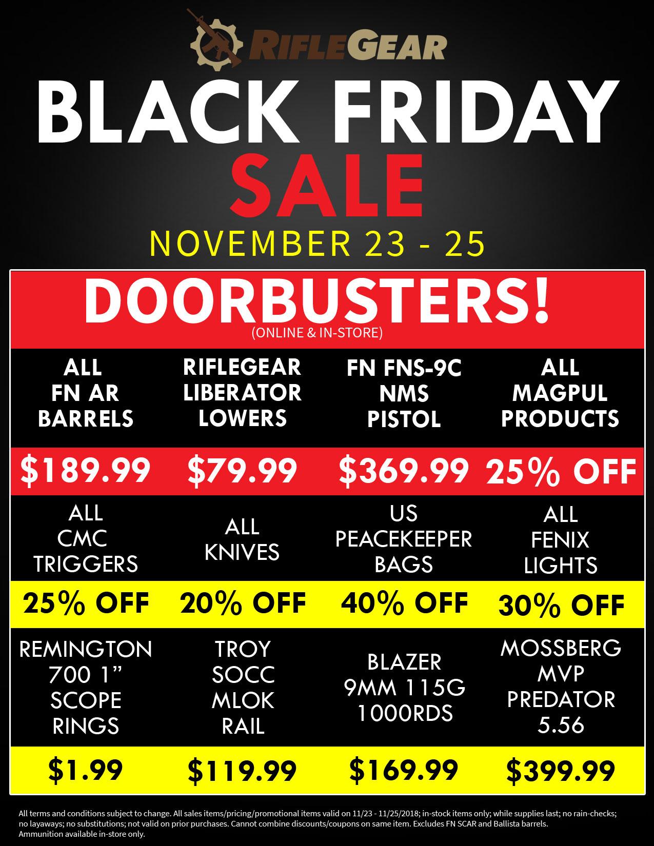 Riflegear S Black Friday Sale Free Shipping Over 500 Gun Deals