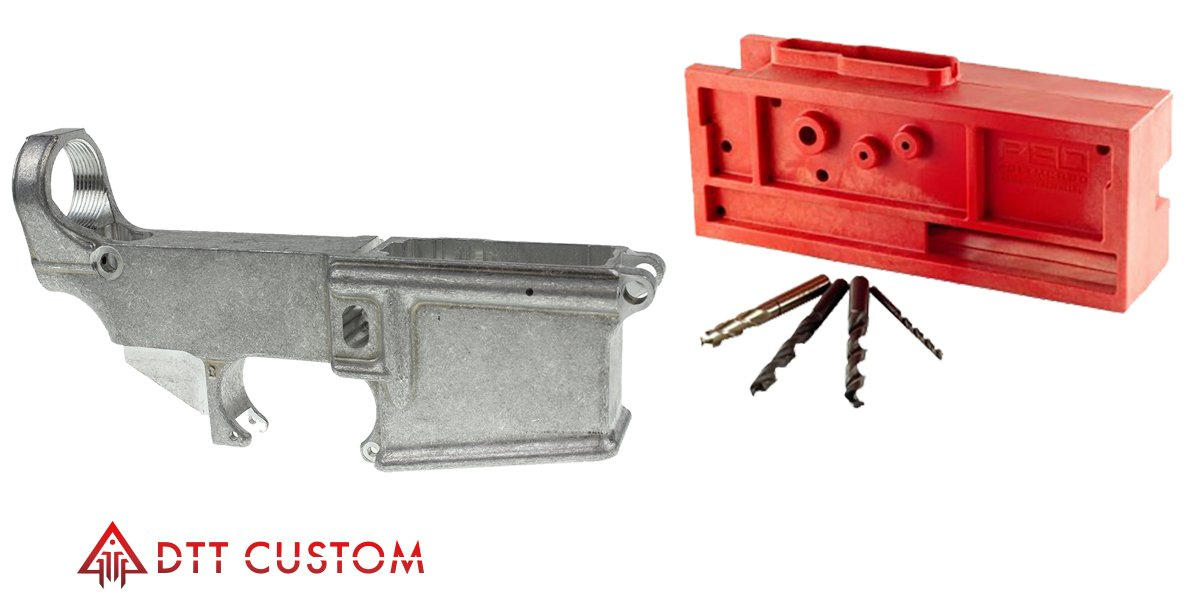 Delta Deals AR-15 80% Lower + Universal Heavy Duty Jig & Tools - $77 99