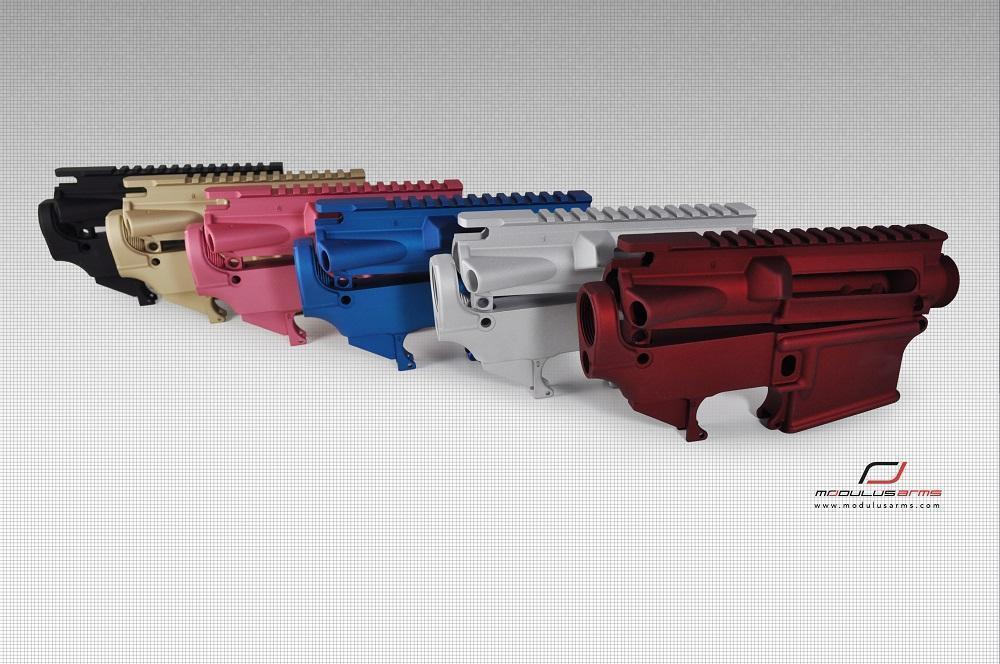 AR-15 80% Lower Receivers and Matched Sets in Black, Red, Blue, Green by  Modulus Arms from - $59 99
