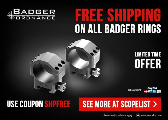 14a842e0d0b Badger Ordnance Rings - Free Shipping Available - Use Code SHPFREE -  Limited Time Offer! BUY NOW!