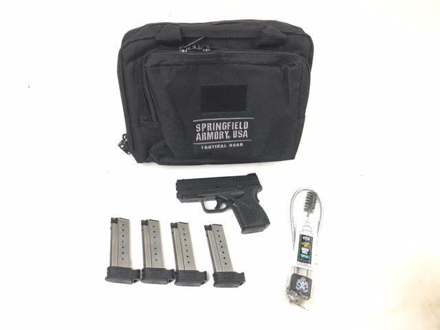 "Springfield XDs 9mm 3 3″"" Black 5 Mags & Range Bag - $349"