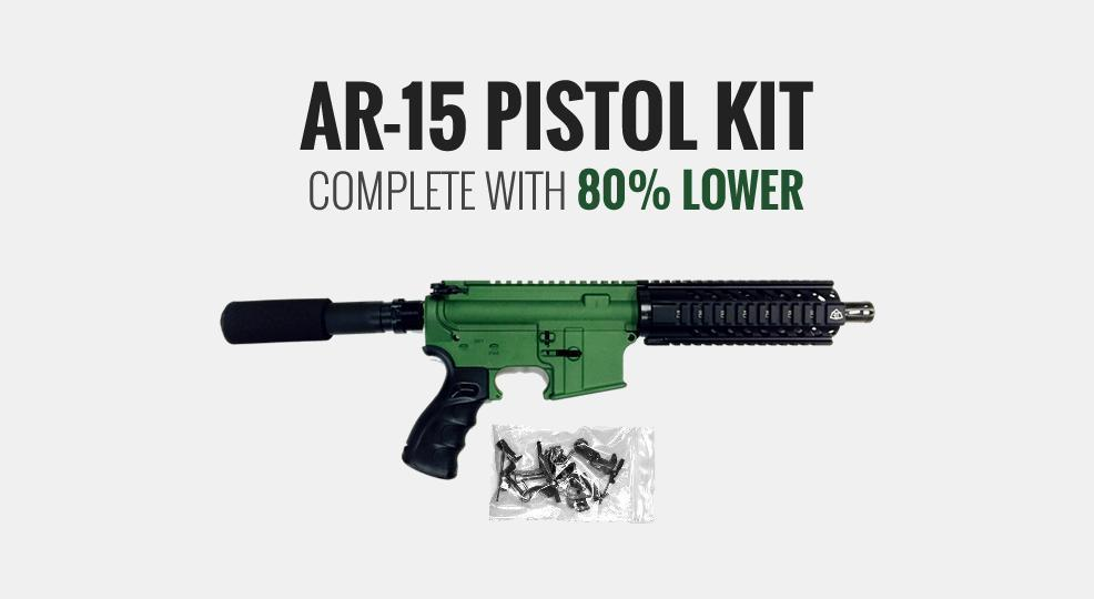 black friday sale ar 15 pistol kit 80 lower 339
