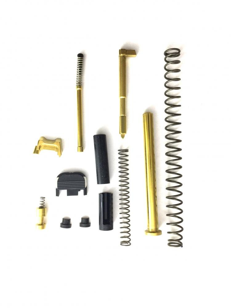 TiN Glock 19 Gen 3 Slide Completion Kit with TiN Guide Rod $103 49 using  coupon code