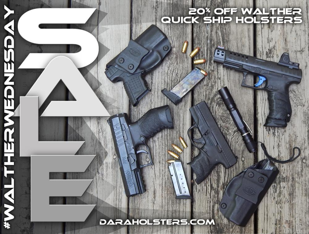 Walther Wednesday! - DARA HOLSTERS & GEAR20% off - $43 19