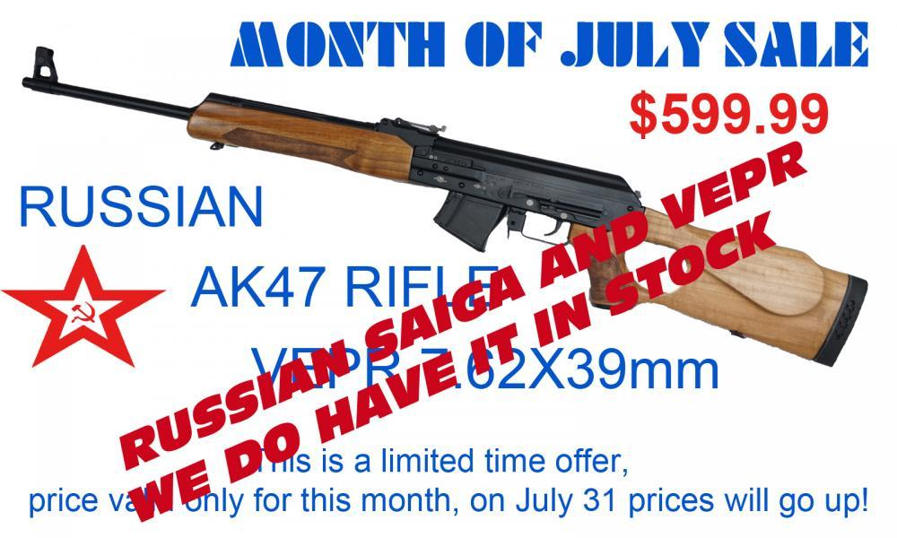 LEGION USA RUSSIAN AK47 RIFLE VEPR 7 62X39mm - $599 99 SHIPPED LIMITED TIME  OFFER