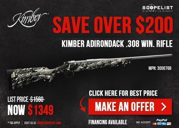 Kimber Adirondack  308 Win  3000768 Available At $1,349, Only - Make  Savings Of $211 Right Away!