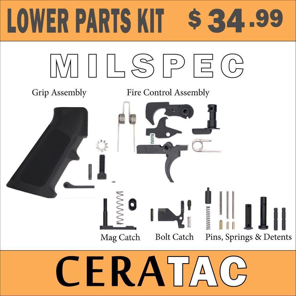CERATAC: Lower Parts Kits (Complete) AR-15 - $34 99 (Flat Rate Shipping  $4 99)