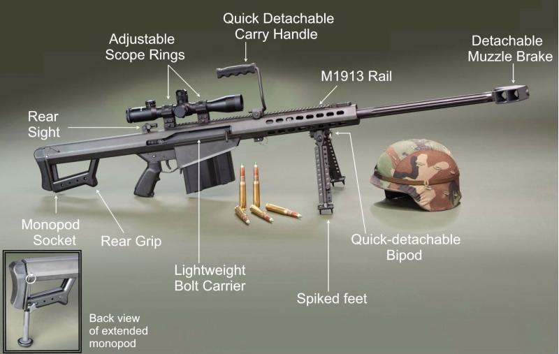 Resultado de imagen para Barrett .50 BMG