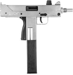 Backorder - 9mm Mac-9 Style Matte Nickel Pistol #M9-MAC-NIC - $399 99