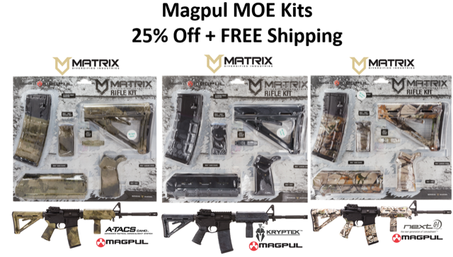 Magpul MOE AR10 Furniture Kits - Various Colors- $10 shipped  gun