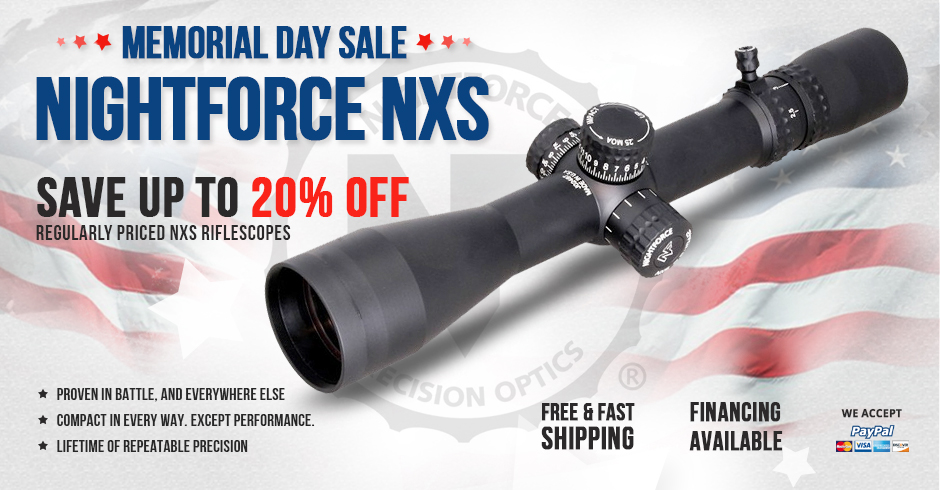 Nightforce NXS Sale Starts Now + Closeouts & More!