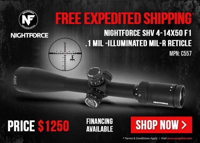 nightforce scope coupons