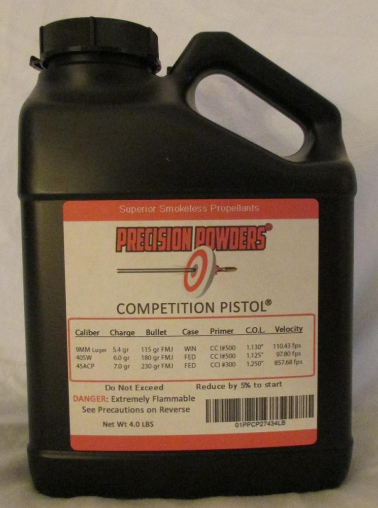 Precision Powders Competition Pistol Powder - 8 LBS - $209 50 Shipping  Included