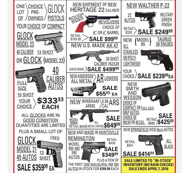 Larry Pistol And Pawn Annual Hunting Gun Sale In Store Only Gun