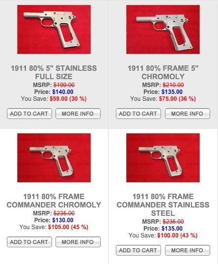 Almost to good to be true 1911 frames on sale - $130