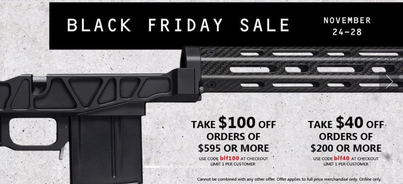 XLR Industries (Rifle Chassis!) BF Deal - $100 off $595, $40 off