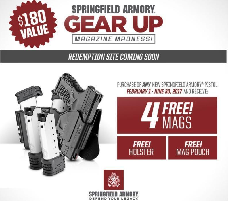 Receive 4 free mags, a holster, and a magazine pouch from