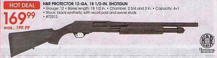 H&R PROTECTOR 12-GA. 18 1/2-IN. SHOTGUN Academy Sports ...