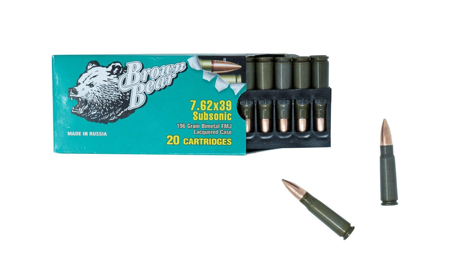Subsonic Brown Bear 7 62x39 Ammunition Box 20 Rounds - $11 99