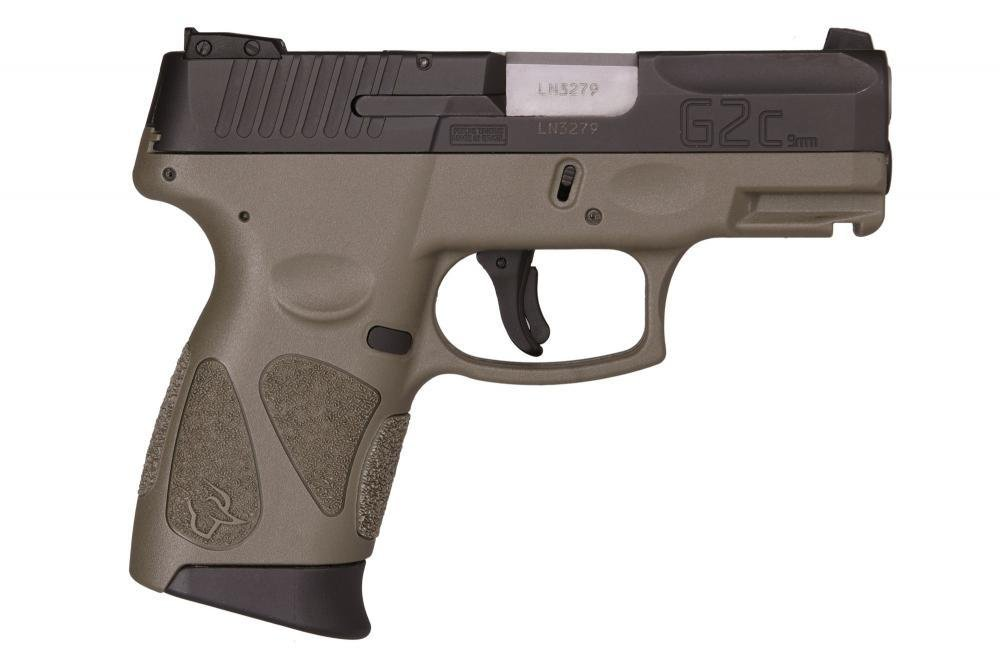 Taurus G2C Compact 9MM Pistol, 3.2″ Barrel, Two 12rd Mags, OD Green ...