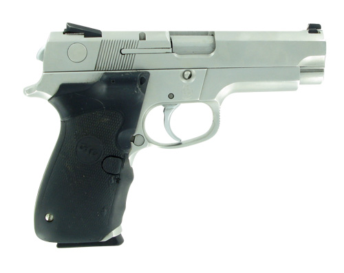Used S&W 4046  40 Pistol with Crimson Laser Trace grips - $369 99