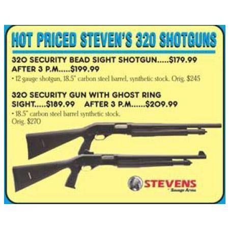 Stevens 320 Security Gun w/ Ghost Ring Sight - $198 54