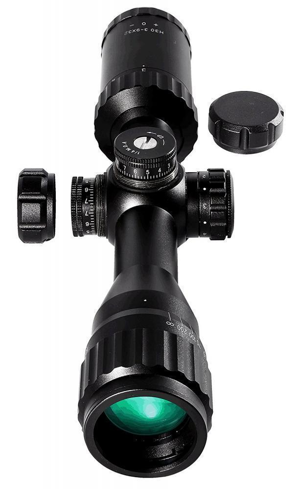 Barra Rifle Scope H30 3-9x32 Illuminated BDC Reticle Capped Turrets Hunting