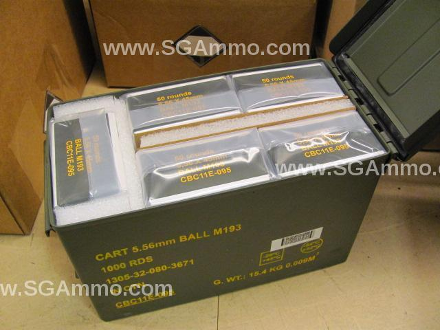 1000 round can magtech 5 56mm ball m193 military surplus ammo by