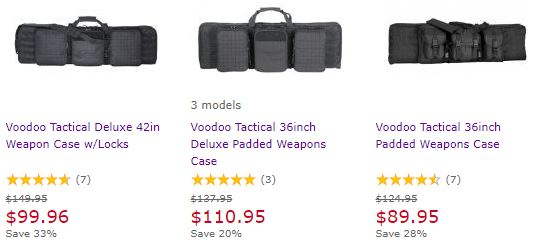 Voodoo Tactical Deluxe 42in Weapon Case w/Locks Length: 42 Color: Black -  $89 96 after 10% off on site + FREE Rifle Sling (Free S/H over $49)